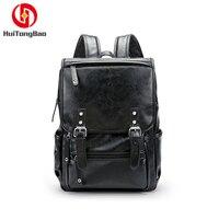 Man Laptop Travel Fashion Backpack Schoolbag PU Leather High Quality Travl School Bags Back Pack Bagpack Bag Backpacks Bookpack