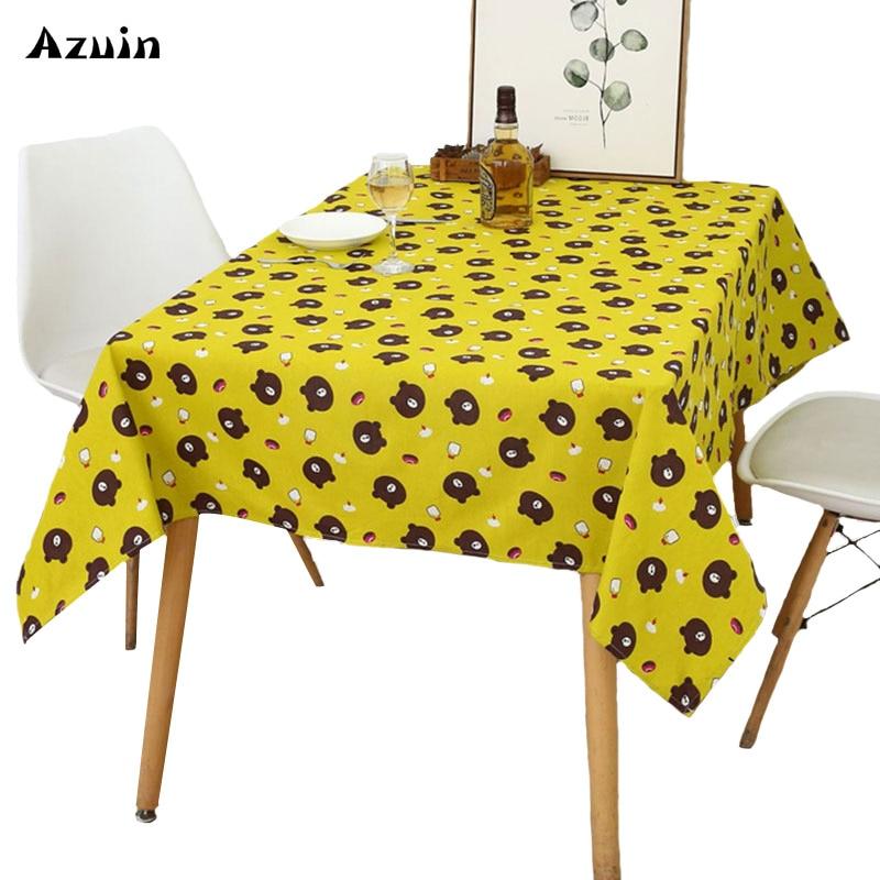 Hule en la mesa de la cocina de tela de lino de algodón niños mantel de  mesa de comedor para cocina de mesa de boda mantel