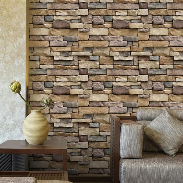 2018 Vintage 3D Brick Wall Paper Modern Stone Pattern Wallpaper Stickers Roll For Living Room