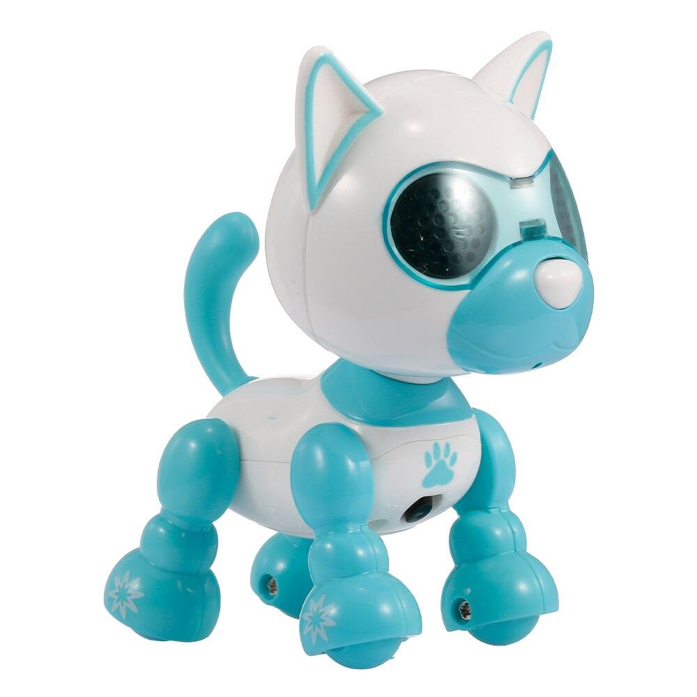 RC карманный мини робот RC собака умный осязаемый удар микрофон Запись голоса Смеющийся лай электрический RC детские игрушки