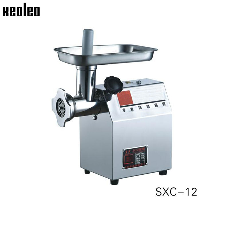 xeoleo commercial meat grinder 120kghr meat mincer 68mm thickness stainless steel automatic