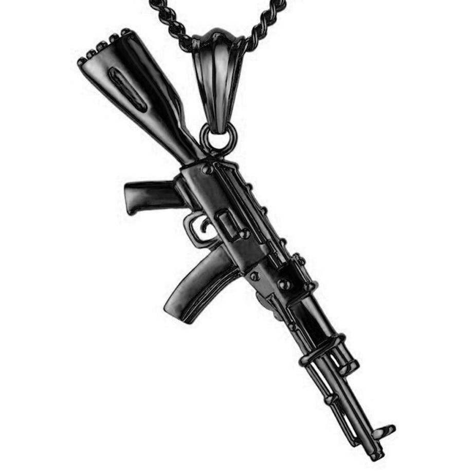 Hiphop Punk Gun κολιέ κρεμαστό κόσμημα - Κοσμήματα μόδας - Φωτογραφία 6