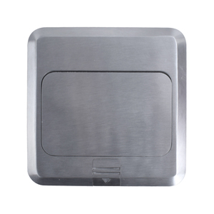 Image 3 - Coswall All Aluminum Silver Panel Pop Up Floor Socket 16A French Standard Power Outlet With USB Charging Port 5V 1A