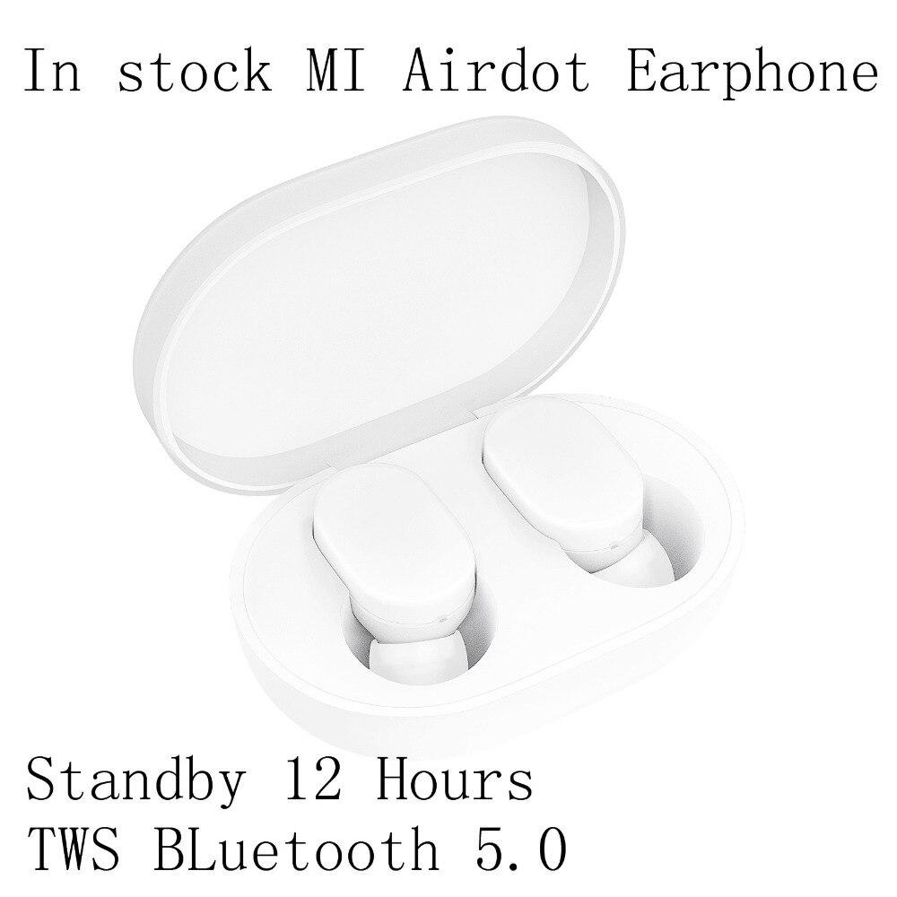 Xiao mi AirDots TWS écouteurs Bluetooth Version jeunesse écouteurs intra-auriculaires sans fil écouteurs casque avec mi c et boîte de chargement Dock