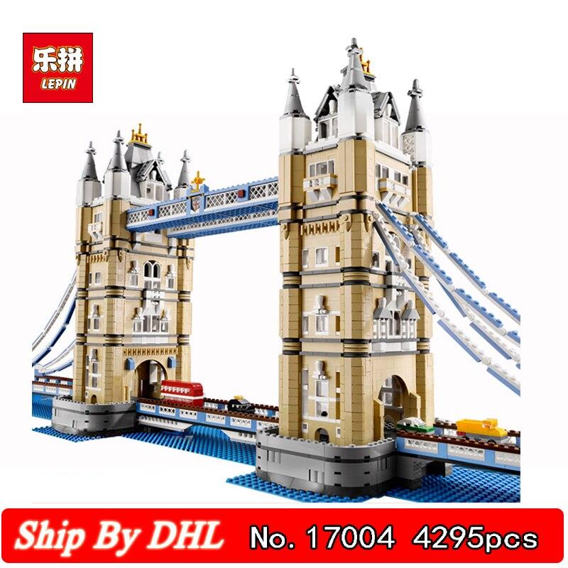 DHL Lepin 17004 World Famous Building International London bridge Building Blocks Kits 4295pcs Bricks Toys Clone LegoINGs 10214 цена 2017