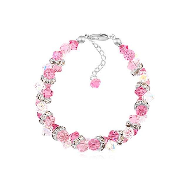 Trendy Gorgeous Genuine Crystal from Swarovski Bracelets for Women Design Adjustable Hand Jewelry Made with Swarovski Element