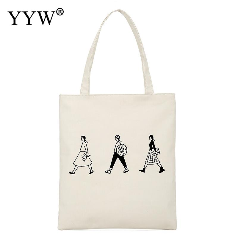 12 Style Shoulder Bags White Black Canvas Concise Handbag For Woman Messenger Bags Crossbady Bags Girl Simple Totes