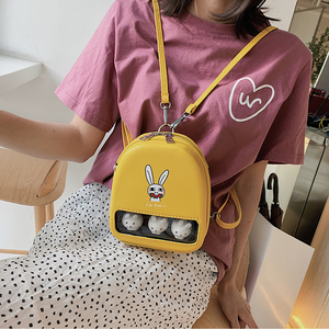 Image 2 - Màu Vàng Dễ Thương Vịt Rõ Ràng Ita Bookbags Nữ Hoạt Hình In Hình Ba Lô Nữ Mini Schoolbags Cho Bé Gái Lưng Bằng Pu Gói 2019 hot