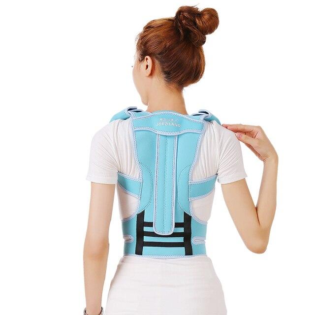 b39ce17ff Professional Adult Aluminium Alloy Back Posture Brace Corrector Shoulder  Support Band Belt Posture Correct Belt For