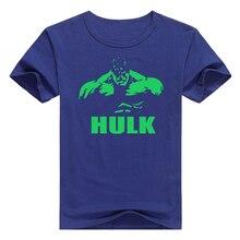 Hulk t-shirt summer anime tee t shirt men short sleeve super hero O-Neck shirt fitness
