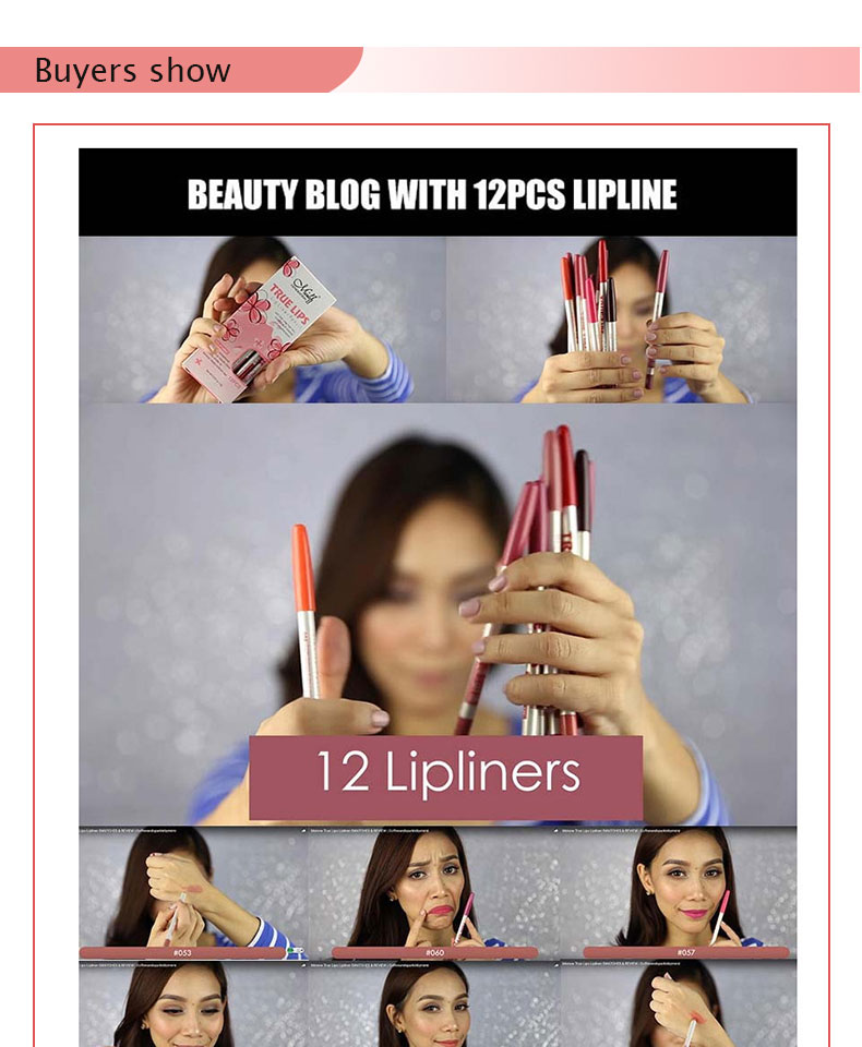 Menow Brand Makeup 12Colors/Set Waterproof Lip liner Pencil Women's Professional Long Lasting Cosmetic Tools P14002 12