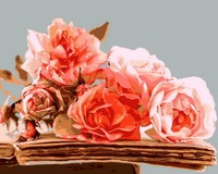 Frameless Picture Rose Pink Painting By Numbers Modern Flower Home Decoration For Living Room Hand Unique