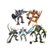 цены New BionicleMask of Light XSZ 710 Series Children's Skulls Warrior Bionicle Building Block Toys Compatible With 70791