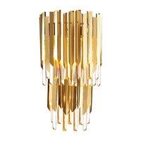 Новый дизайн 2 слоя Кристалл Бра Современный настенный светильник AC110V 220 В блеск золота wandlampen домашнего освещения