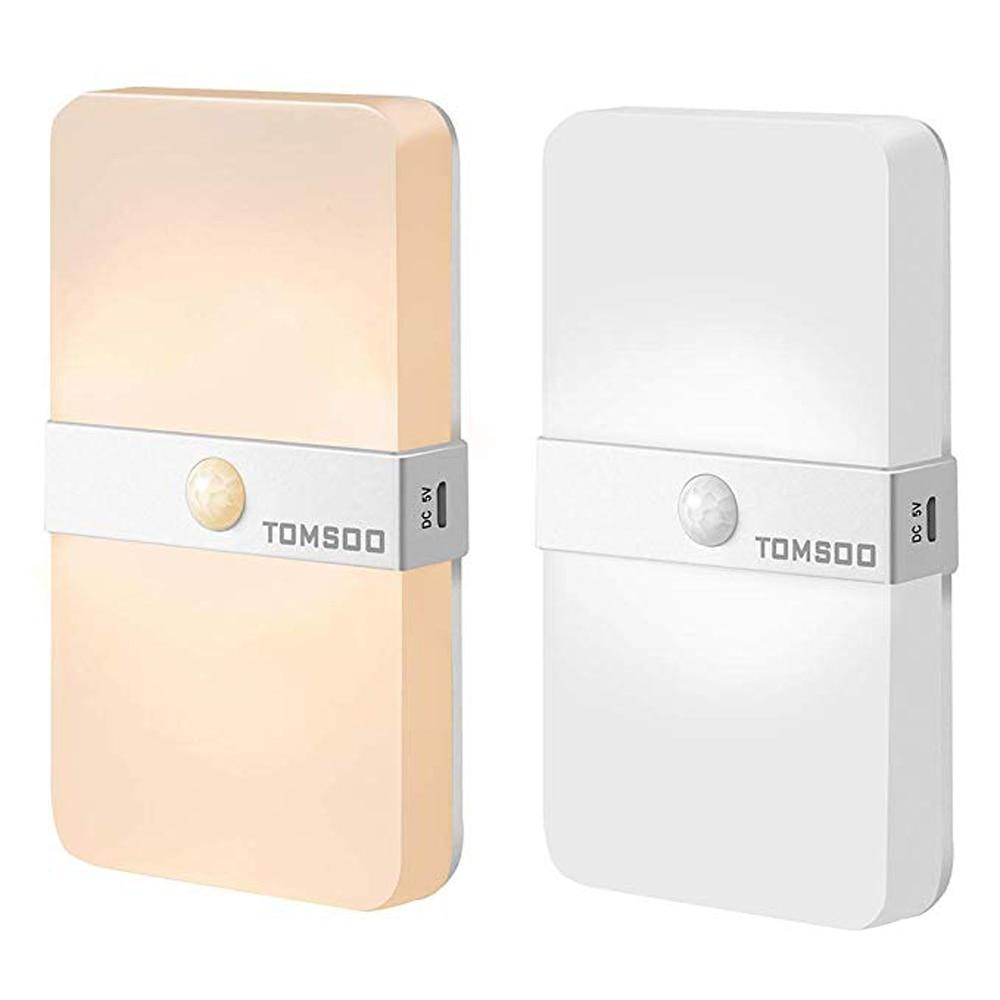 Rechargeable Motion Sensor Light, Adjustable 3000K Warm White / 6500K Cool White Color Change LED Motion LED Bulbs