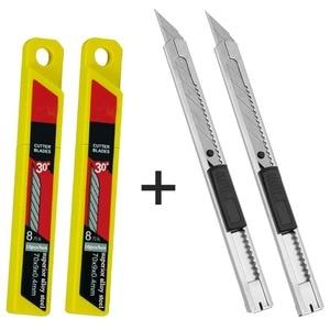Image 1 - CNGZSY 2 יחידות מיני אמנות סכיני שירות 20 יחידות נירוסטה להבי DIY סכין ויניל סרט חותך רכב גלישת לחתוך כלים 2E02 + 2E03