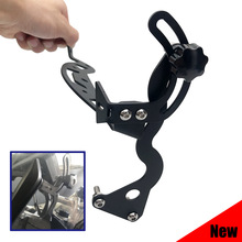 For BMW R1200GS R1250GS Windshield Windscreen Steel Bracket Mounting Clamps Holder R1200 GS LC ADV 2013-2019, R 1250 GS ADV 2019