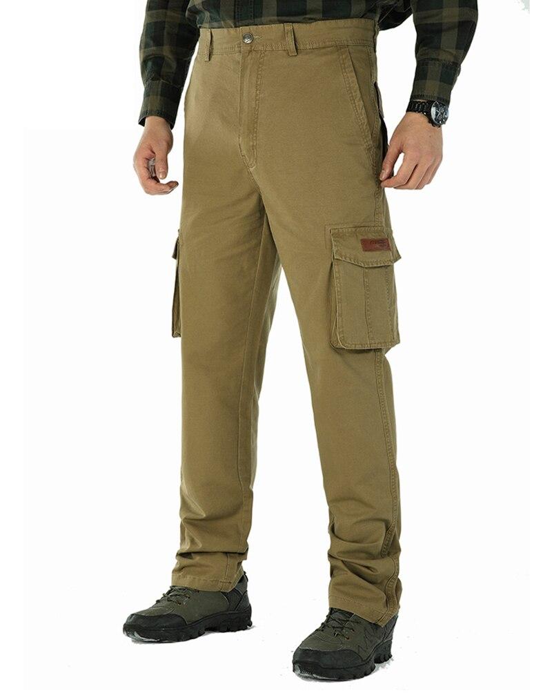 TACVASEN Tactical Cargo Pants Men Summer Solid Straight Cotton Military Army Combat Pants Safari Work Trousers Big Man Clothes