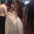 2016 de la Alta Calidad Hecha A Mano vestido de Bautizo Vestidos de Bautismo de La Niña Con Vestido De Noiva Encaje Toddle A Todo El Mundo