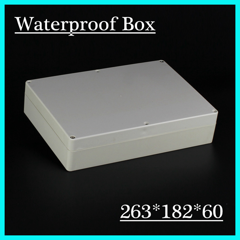 263*182*60mm Waterproof Plastic Electronic Project Box Enclosure Case 4pcs a lot diy plastic enclosure for electronic handheld led junction box abs housing control box waterproof case 238 134 50mm