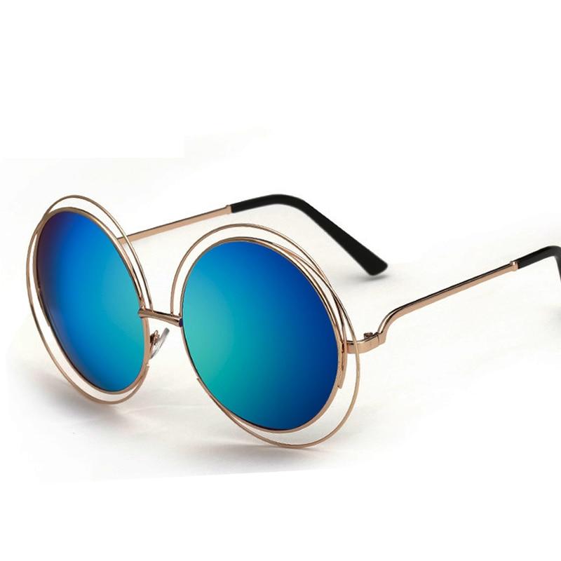 2017 Gafas de sol redondas Mujeres Gafas de sol de marca Diseñador - Accesorios para la ropa