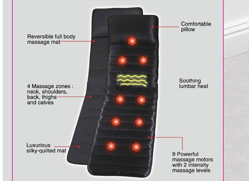 Le nouveau 2015 ménage 9 vibration moteur corps infrarouge lointain chauffage santé massage matelas