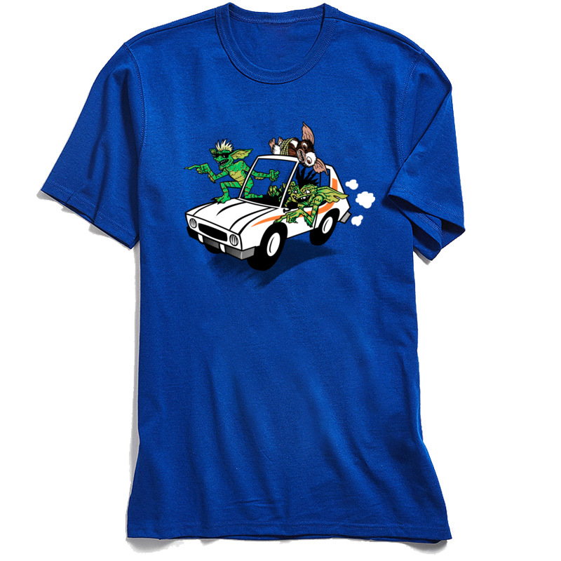 Gremlinz T Shirts for Men Casual April FOOL DAY Tops Shirt Short Sleeve Coupons Party Tops Tees O-Neck 100% Cotton Fabric Gremlinz blue