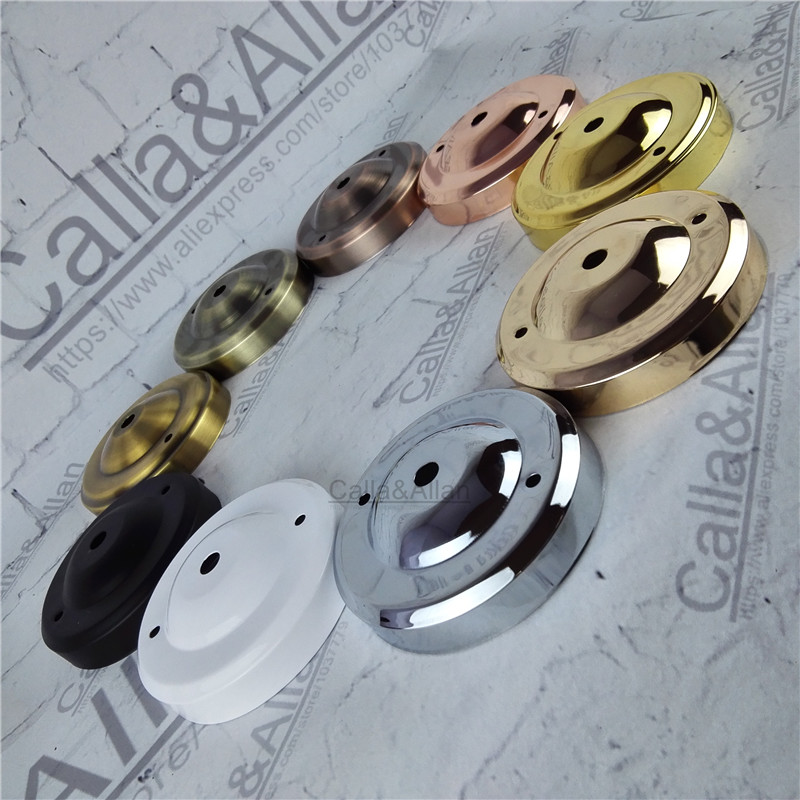 Free shipping 1/2/10pcs lot D105mmX30mm 9 colors finish iron ceiling plate DIY pendant light canopy black metal ceiling mount free shipping 10pcs mc145158 2 145158 2