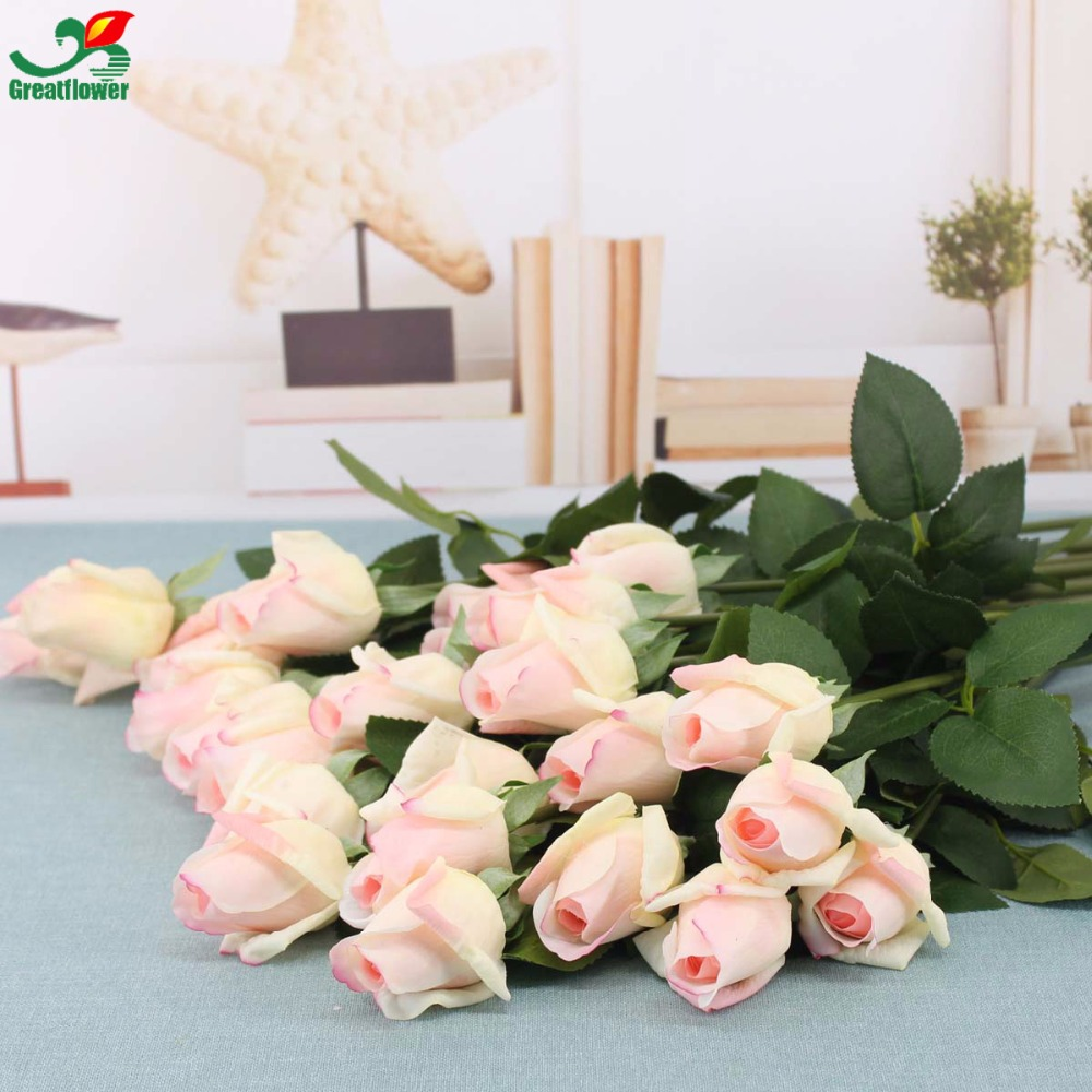 10pcslot lifelike artificial rose bud flower real touch wedding 10pcslot lifelike artificial rose bud flower real touch wedding flower bouquet artificial flowers for home party decoration in artificial dried flowers izmirmasajfo