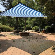 Verschiedene Größe Blau weiß farbe Sun Shelter Mesh HDPE Schatten Net mit hängen loch pro meter für Camping schwimmen pool schatten Abdeckung
