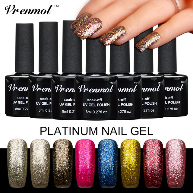 Vrenmol Platinum Gel Polish Need Uv Lamp Soak Off Nail Art Full Set