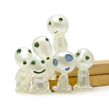 6Pcs set Anime Princess Mononoke luminous tree elves Spirit Kodama gardening potted decoration accessories or Doll