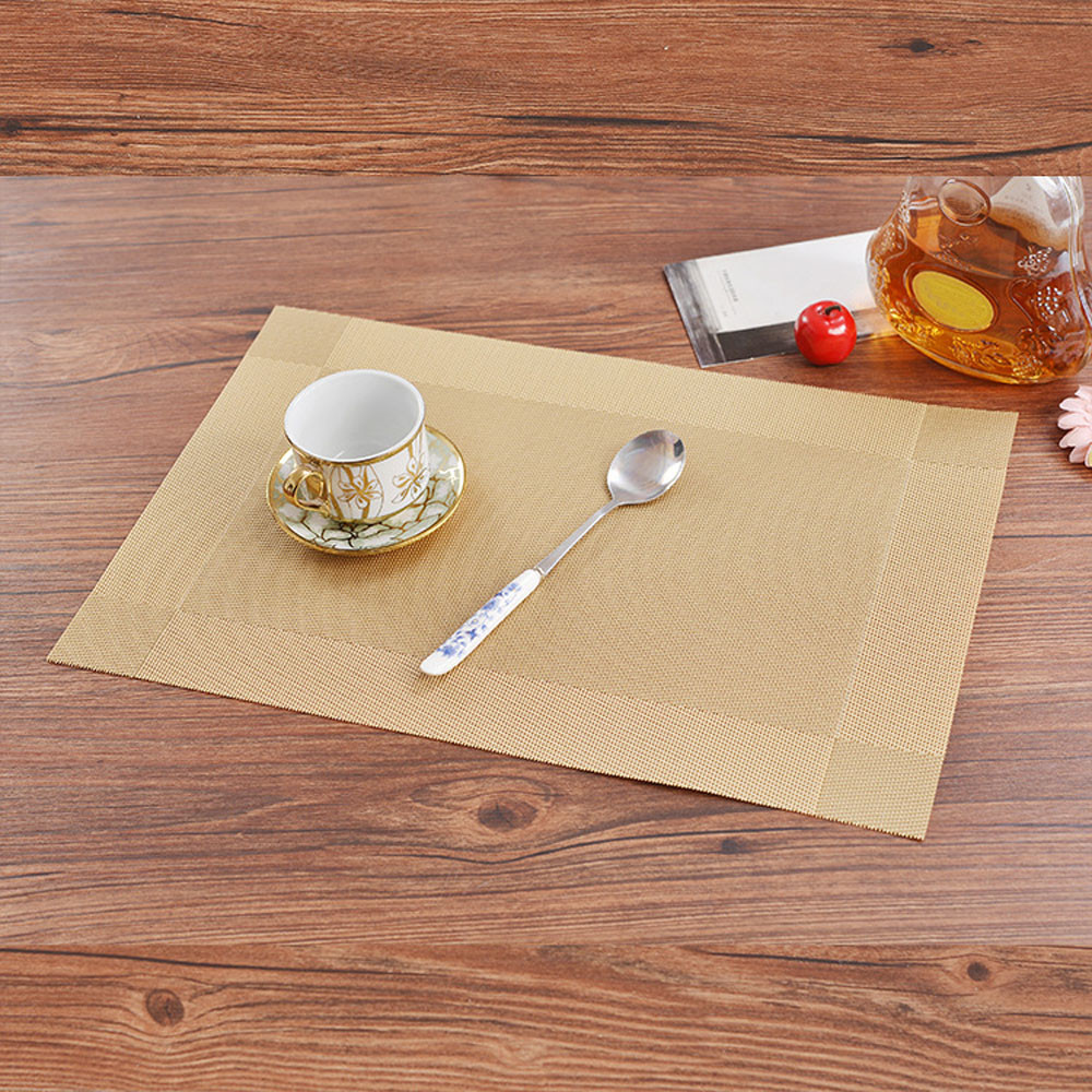 compare prices on modern placemat online shoppingbuy low price  - pc pvc dining room weave woven placemats table heat insulation place matsmodern home table decoration