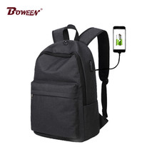 canvas USB Anti-theft backpack men casual black back pack women teenagers Preppy Schoolbag student College girl school bags boys