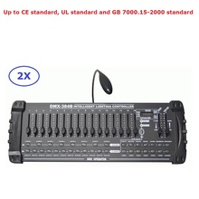 2 Units Factory Direct Sales 384 DMX Controller Stage Lighting Dj Equipments Console For LED Par Moving Head Spotlights