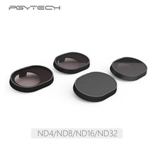 цены 4pcs/Set PGYTECH High Definition ND4 ND8 ND16 ND32 Neutral Density Filter Lens Filter For DJI Spark Drone Camera Lens