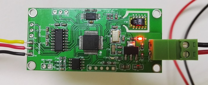SHT15 temperature and humidity sensor STM32L151C8T6 single chip microcomputer data acquisition