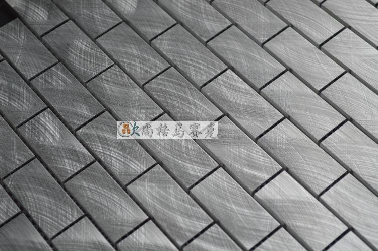 aluminum alloy metal strip mosaic tiles HMM1002B for backsplash ...