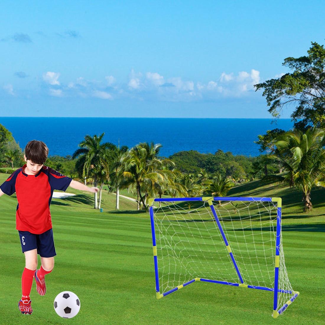 Surwish 2018 New Portable Detachable Kids Football Goal Soccer Door Set For Children Sports