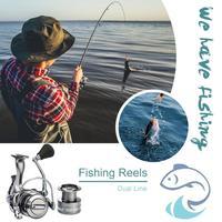TS Fishing Reels Dual Line Metal Cup Spinning Bait Carp Fishing Wheels Outdoor Fishing Tool Equipment Fishing Wheels