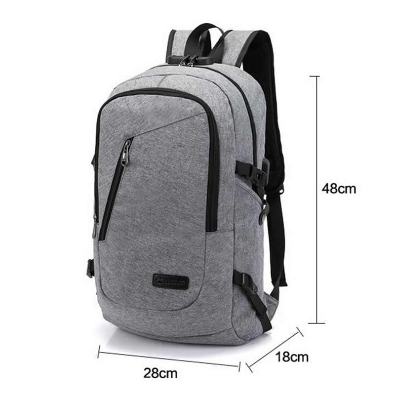 School Backpack With Waterproof Bag Mochila Backbag Travel Smart Usb Port Theft Laptop Anti Business Charging Unisex 8v0NnwOm