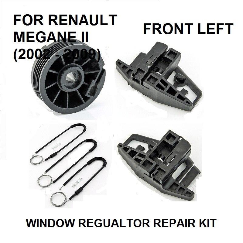 CAR WINDOW REGULATOR REPAIR KIT FOR RENAULT MEGANE II 2 FRONT LEFT 2002-2009 NEW