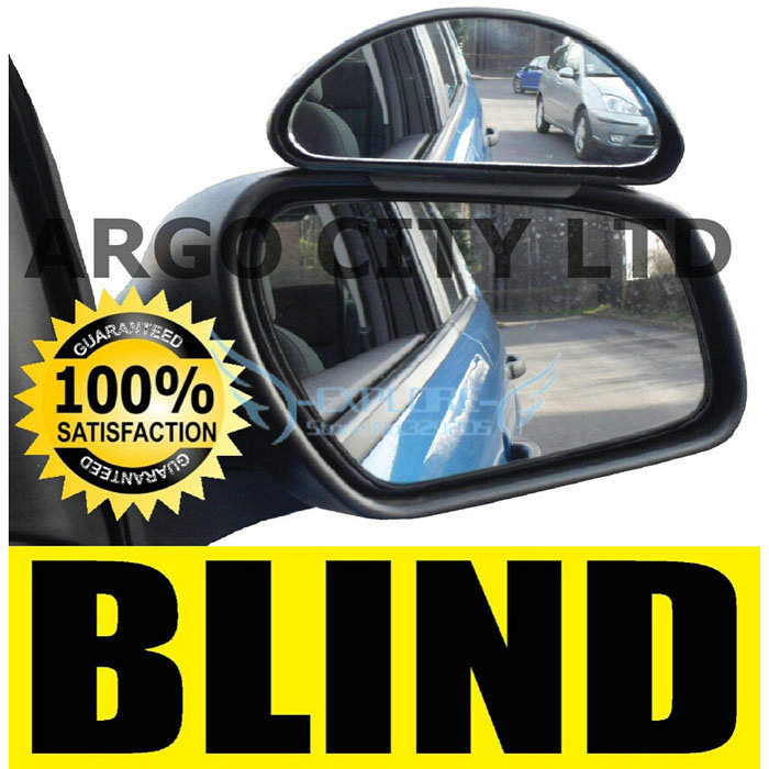Black X 1pcs Adjustable Car Blind Spot Mirror Driving