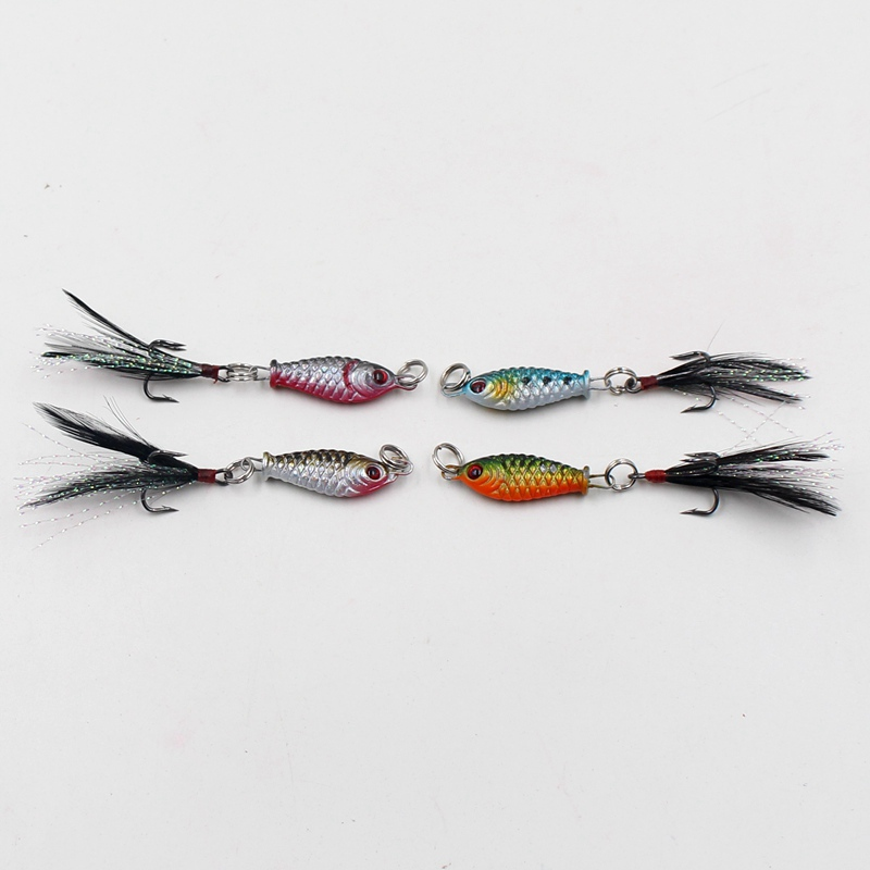1pcs Mini Feather Tail VIB Hard Lure For Sea Carp Fly Fishing Spinner Bait Accessories Jig Hooks Tool Wobblers Fish Sport lures wldslure 4pcs set 14g winter sea hard fishing lure kit vib bait with lead inside diving swivel jig wing wobbler crankbait