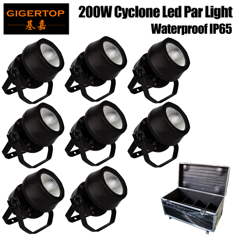 8IN1 Flight Case Pack Led Warm White/Cold White COB Audience Light Wash Blinder Stage Light Dancing Theatre DJ Holidays TP-P110 splicing 2 light led blinders with 100w led cob x2 amber cold white color for audience blinding color warm