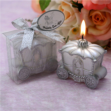 New 1PC Home Wedding Decoration Candle Favor Elegant Pumpkin Carriage Candle Gift Romantic Wedding Gifts