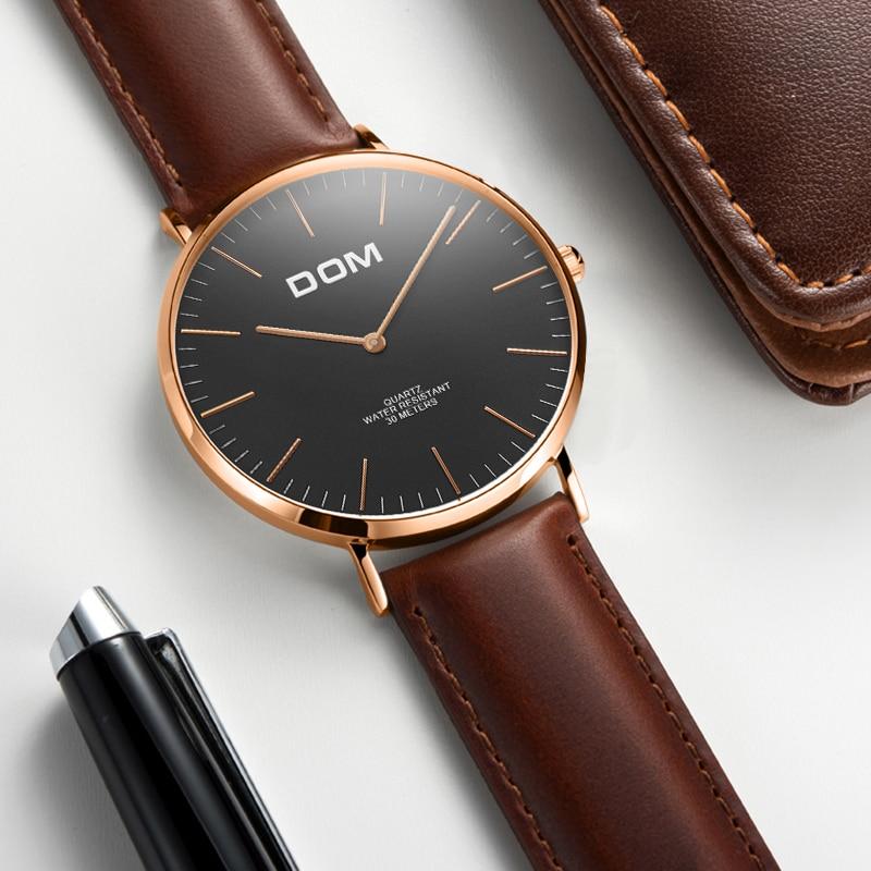 Męskie Zegarki DOM Marka Luksusowy zegarek Kwarcowy Casual zegarek - Męskie zegarki - Zdjęcie 2
