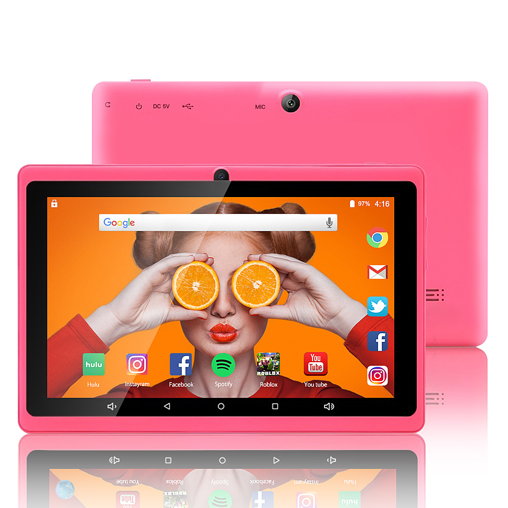 IRULU 7 Inch Tablet, Google Android 8.0 Tablet PC, Quad Core,Dual Camera, Wi-Fi, Bluetooth,1GB/8GB,Play Store Skype