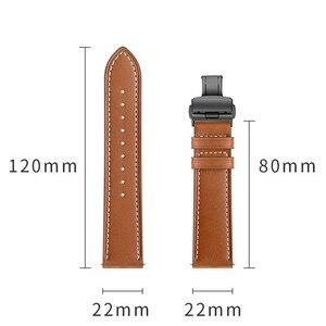 Image 4 - פרפר אבזם רצועת עור לxiaomi Huami Amazfit GTR 47mm 42mm צמיד רצועת עבור Huami Amazfit ביפ לייט /סטרטוס 2/קצב