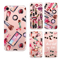Watercolor For Iphone 7 Case Capa Beautiful Cosmetic Eyeliner Nail Polish Soft Printing Painted Girl Favorite Cover